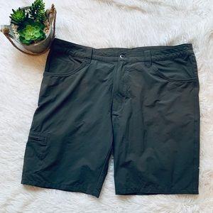 Patagonia Dark Gray shorts with side zip pocket